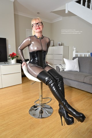 Lena paul latex boots